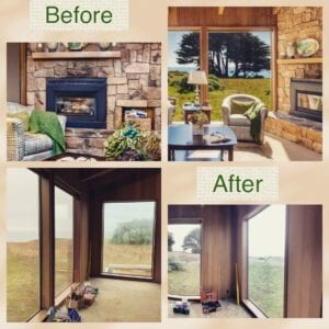 Before and After sea ranch abalone bay, remodel, renovation,