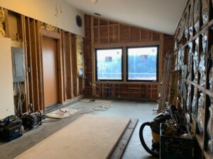 Interior walls prepped for electrical, to receive water heater, walls,sea ranch abalone bay, remodel, renovation,