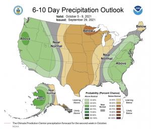 NOAA RAIN FORECAST OCTOBER 2021