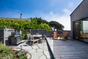 Sonoma County fire, courtyard, gas barbecue