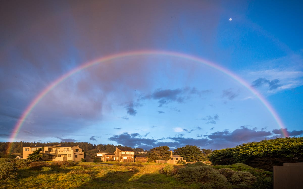 Rainbow over Sea Ranch