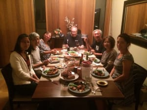 family reunion in dining room, Sea Ranch , Abalone Bay, Vacation Rentals dinner with friends