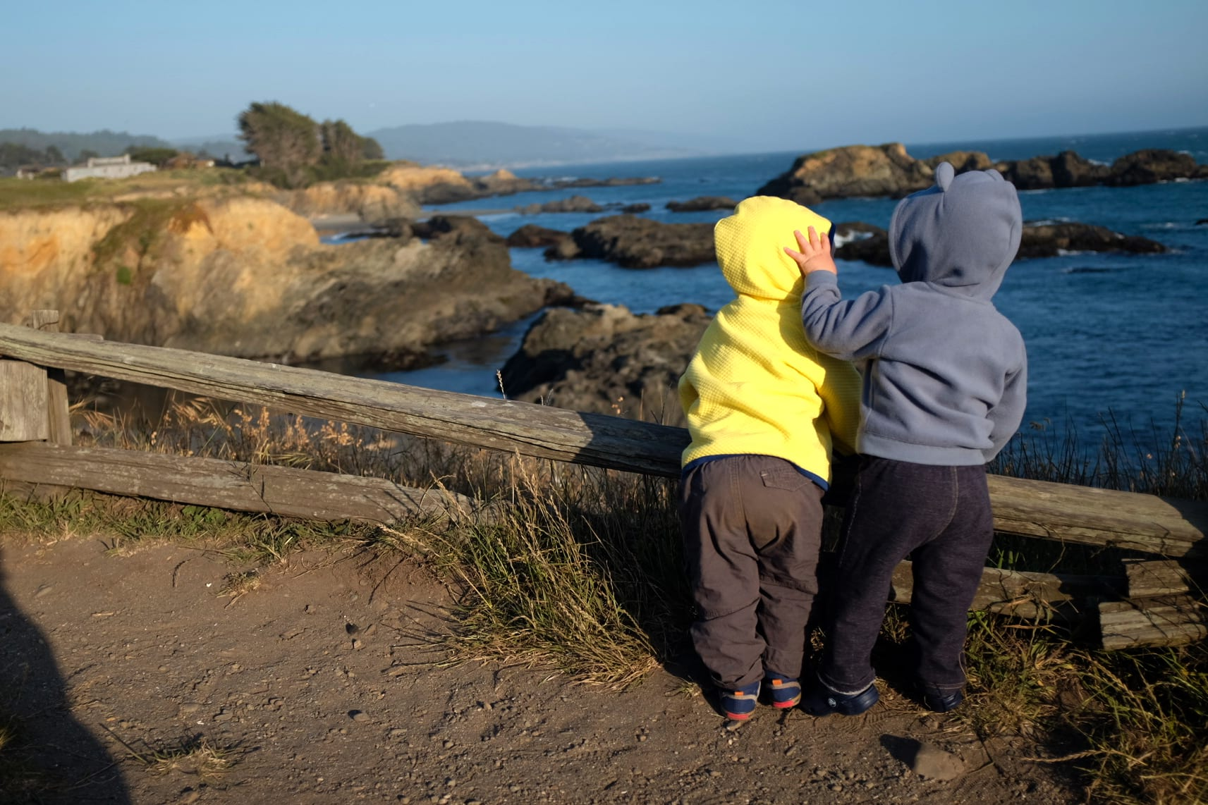 best friends on vacation at Sea Ranch