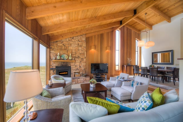 Living room, Abalone Bay, Sea Ranch, Vacation Rental, oceanfront, ocean view