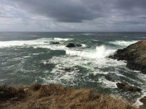 stormy seas at sea ranch