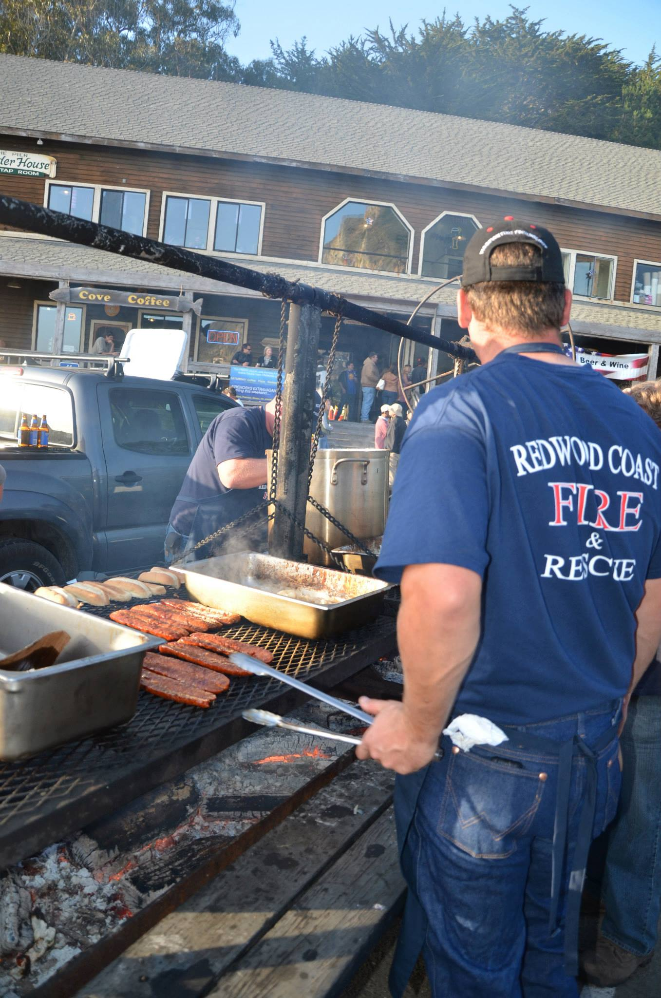 firemen at the fire, independence day 2015 events,
