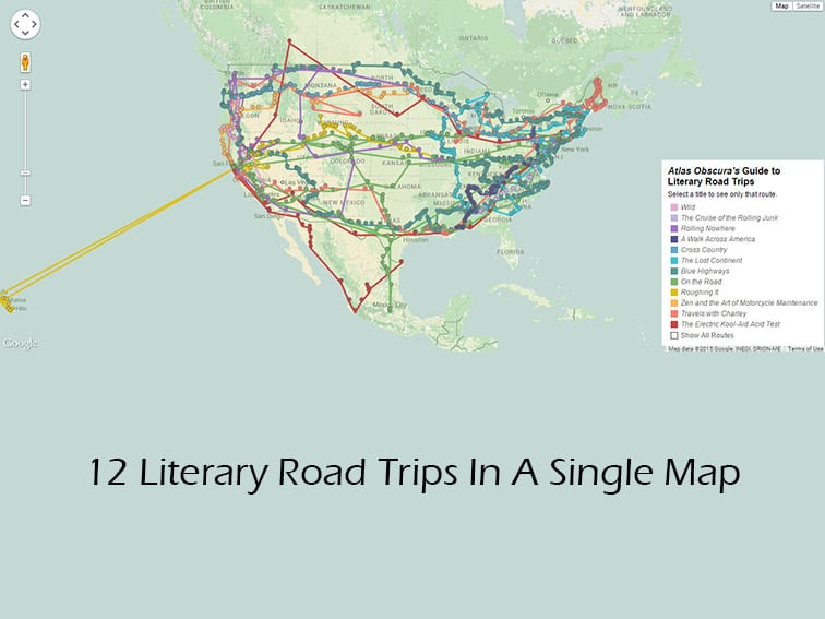 Map, Literary Road Trips