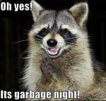 garbage night,vacation rental advice