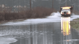 Road closures, flooding, Highway 1