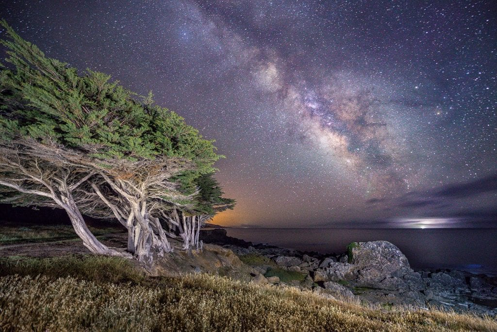 Starry Night Vistas, Milky Way, light pollution, Sea Ranch, Abalone Bay, vacation rental