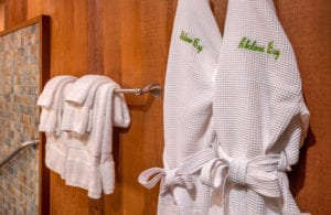 linens, bathrobes