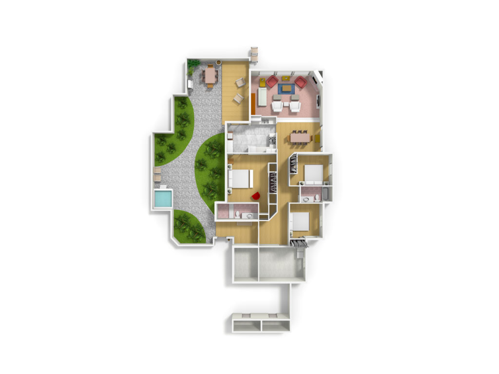 Floor plans, Sea Ranch , Abalone Bay, vacation rental