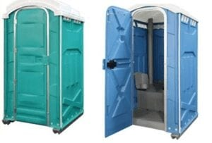 two portapotties