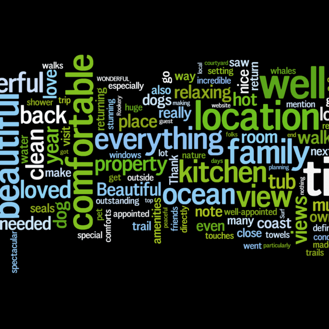 houseguests love, five-star reviews, Sea Ranch Abalone Bay, Sea Ranch, vacation rental,