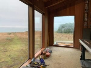 New west window at Abalone Bay
