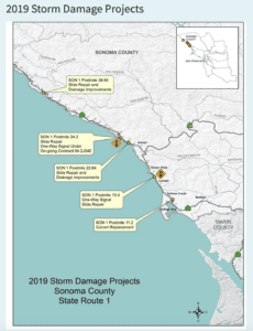 Map of 2019 Storm Damage Projects