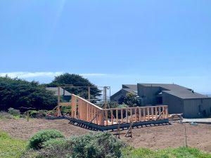 construction progress on garage 3.17.2021