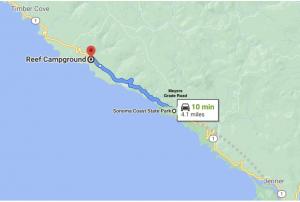 traffic information shoreline highway to sea ranch