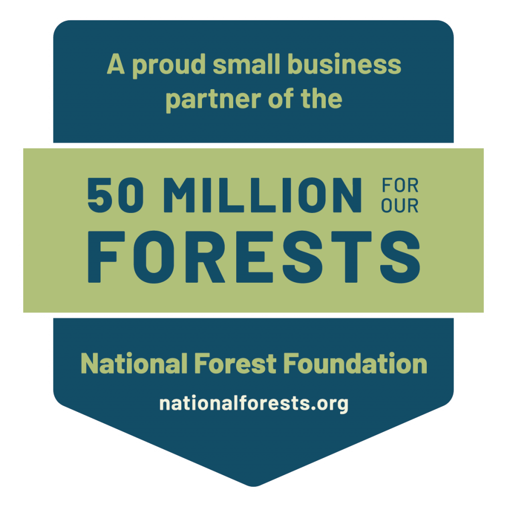 Small business badge for 50 million for our forests, national forest foundation